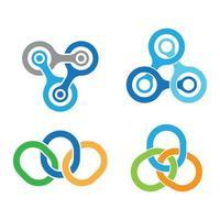 ilustração das imagens do logotipo da rede vetor