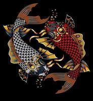 arte cyberpunk com peixes vetor