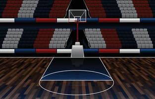 conceito de fundo do salão de basquete vetor