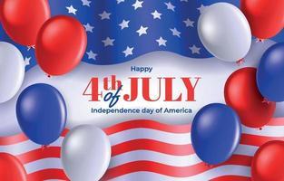 fundo do dia da independência dos estados unidos da américa vetor