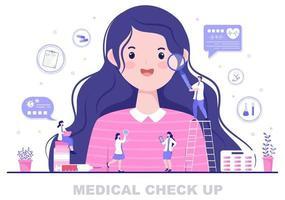 fundo de exame médico de saúde vetor