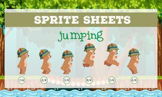 Ações de sprite jogo - salto vetor