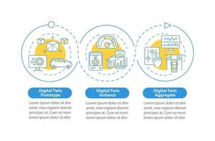 modelo de infográfico de vetor de variedade dupla digital