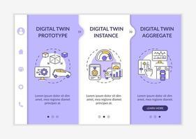 modelo de vetor de integração de tipos gêmeos digitais