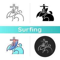 ícone de técnica de surf floater vetor