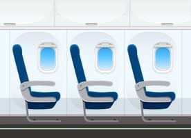 Assento de avião na cabine vetor