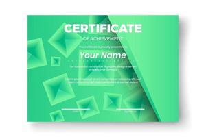 projeto certificado moderno com fundo geométrico abstrato vetor