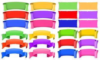 Modelos de banner em cores diferentes vetor