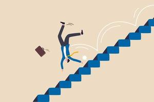 risco de negócio, erro ou falha, desafio ou problema e dificuldade vetor