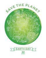Dia da Terra. Projeto conceitual para a conservação da natureza. vetor