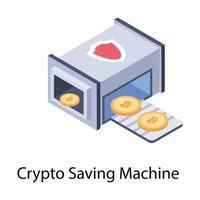 máquina de transação de criptomoeda vetor