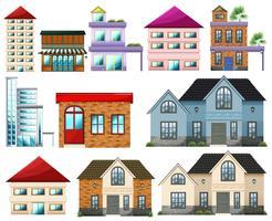Edifícios diferentes vetor
