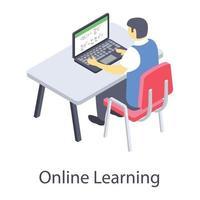conceitos de educação virtual vetor