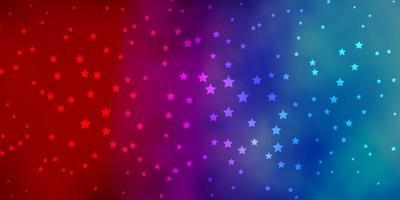 layout de vetor de azul escuro e vermelho com estrelas brilhantes.