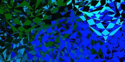 textura vector azul escuro com estilo triangular.
