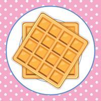 Um fundo bonito do prato de waffle vetor