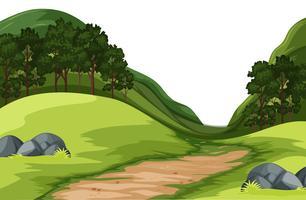 Uma paisagem natureza verde vetor