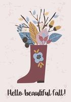Modelos de outono. Vector design para cartão, cartaz, flyer, web e outros usuários.
