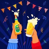 animando na festa da cerveja vetor