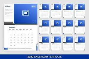 Modelo de calendário 2022 vetor