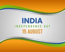 dia da independência indiana 15 de agosto vetor