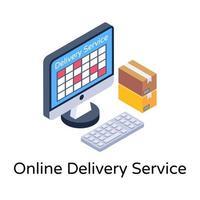 serviço de entrega online vetor