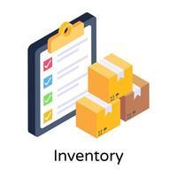inventário e lista de verificação vetor