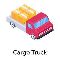 caminhão de carga e remessa vetor