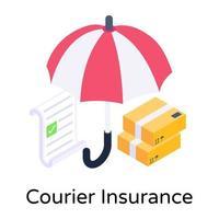 seguro de correio e pacote vetor