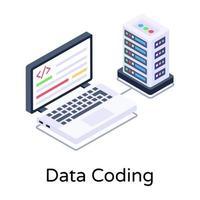 codificação de dados e servidor vetor
