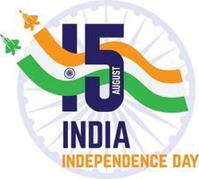 dia da independência da Índia e 15 de agosto vetor