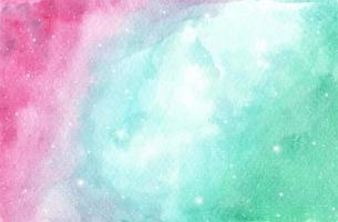 fundo do céu da galáxia aquarela com estrelas. vetor