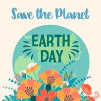 Dia da Terra. Modelo de vetor para cartão, cartaz, banner, panfleto.