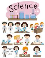 Um conjunto de educação científica vetor