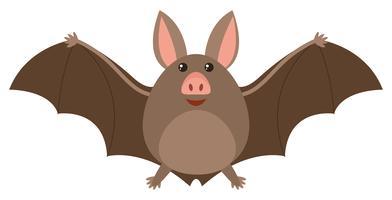 Morcego marrom com cara feliz vetor