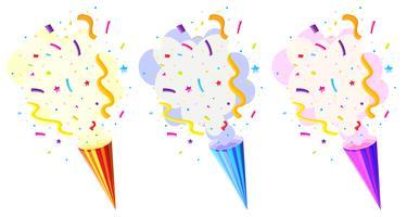 Pop up cone para festa vetor