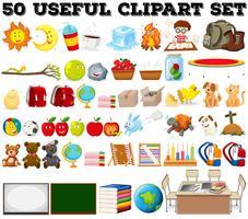 Cinquenta tipos de objetos diferentes vetor