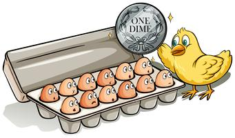 Dúzia de ovos vetor