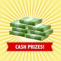 Design de pôster com prêmios em dinheiro vetor