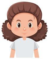 Uma personagem feminina de cabelos cacheados vetor