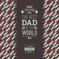 Cartão Feliz Do Dia De Pai No Estilo Retro. vetor