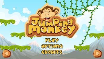 Macaco saltando começando modelo principal vetor