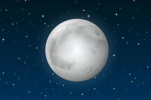 A lua no céu vetor