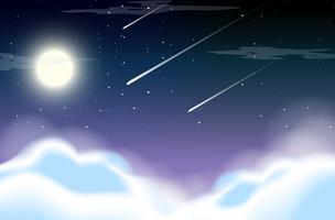 Lindo céu à noite vetor