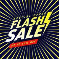 design de modelo de banner de venda flash. vetor