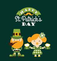 Dia de São Patrick. Ilustração em vetor plana.
