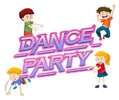 Um logotipo da festa de dança vetor