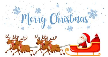 Feliz Natal Papai Noel e Rena vetor