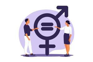 conceito de igualdade de gênero. vetor