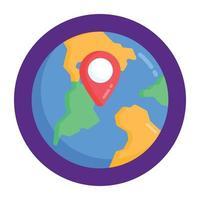 geolocalização e localização mundial vetor